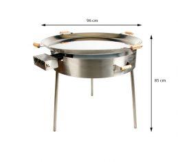 GrillSymbol paellapannu setti PRO-960 inox