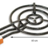 GrillSymbol rengaspoltin 60 cm, teho 21 KW+ lyhyt jalat