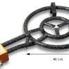 GrillSymbol rengaspoltin 40 cm, teho 11,4 KW+ lyhyt jalat