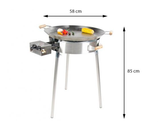 GrillSymbol Paella Frying Pan Set PRO-580