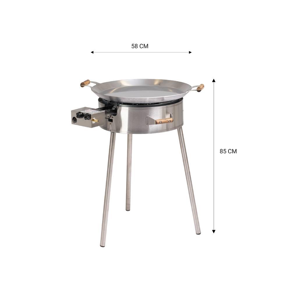 GrillSymbol paellapannu setti PRO-580 inox