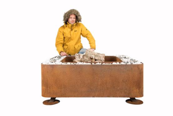 GrillSymbol Fogo Outdoor Wood Burning Fireplace