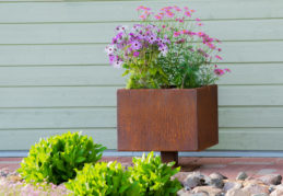 Corten Steel Flower Pot Ulla L