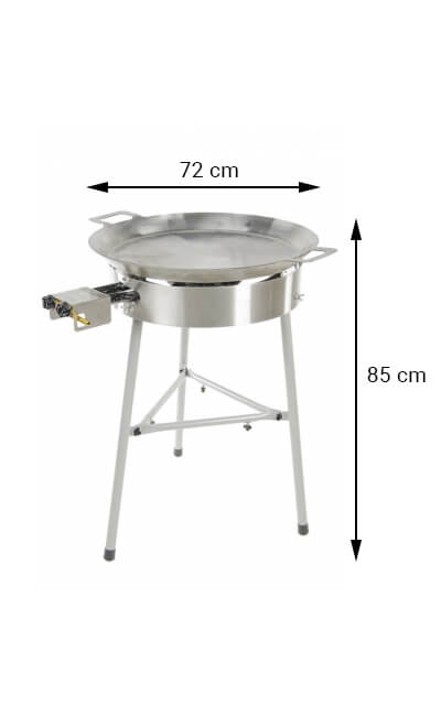 GrillSymbol paellapannu setti Basic-720