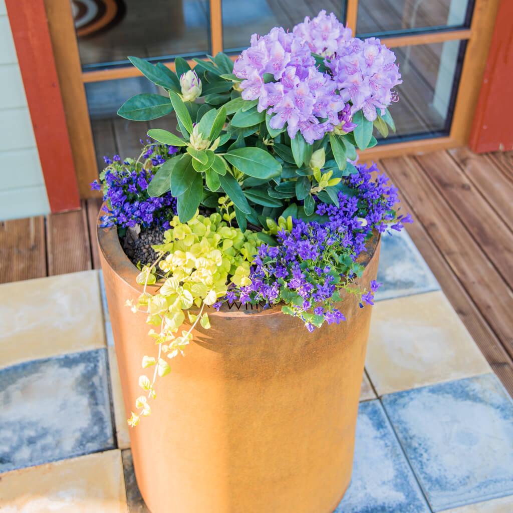 GrillSymbol Стальной цветочный горшок из Cor-Ten Meri