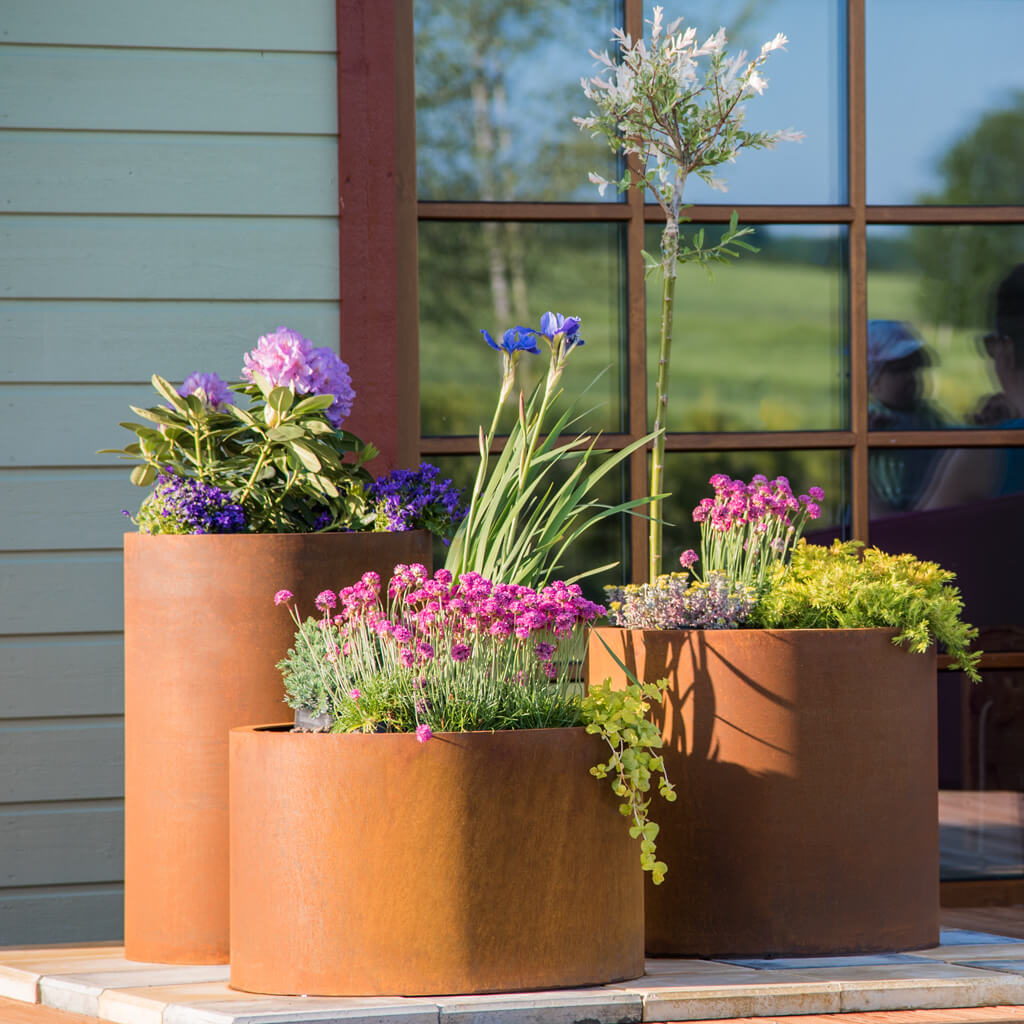 GrillSymbol набор стальных цветочных горшков из Cor-Ten Set Sisters