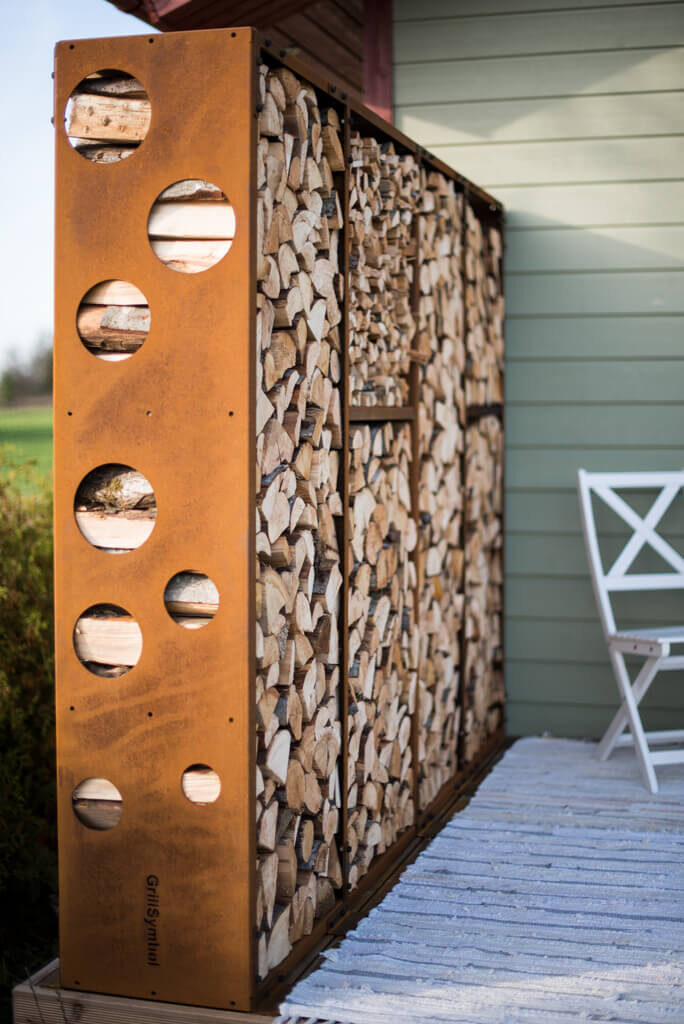 Cor-Ten Firewood Module WoodStock Wall
